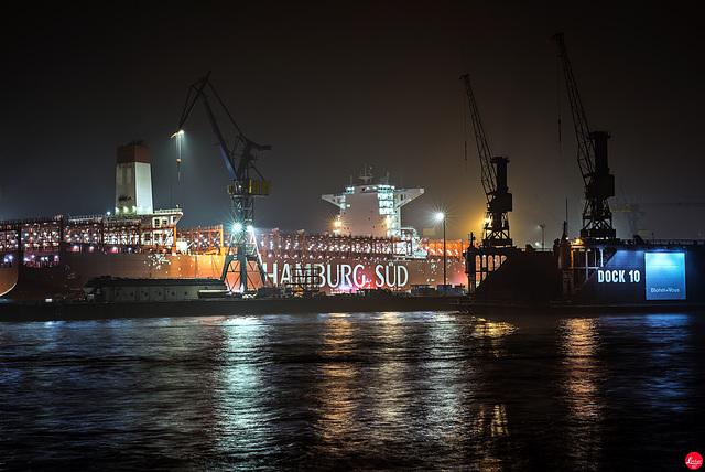 Docks in der Nacht