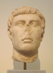 Portrait Head of a Youth from the Roman Agora in Athens in the National Archaeological Museum of Athens, May 2014