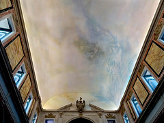 An open-air church where the sky has the warm skin tones of Tiepolo