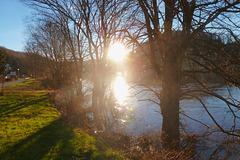 Sonnenaufgang über der Elbe - sunleviĝo - lever du soleil - sunrise -
