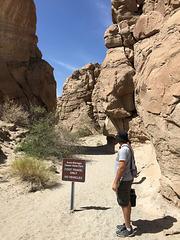 Calcite Mine Slot Canyon Hike (0652)