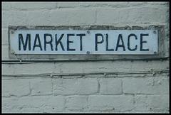Market Place street sign
