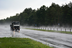 Byelarus, Difficult Weather Conditions on the Highway Minsk-Gomel