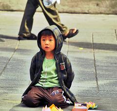 El niño y el canario.