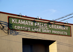 Creamery sign, now pub & brewery.