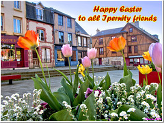 Easter greetings to y'all (old houses in Domfront).