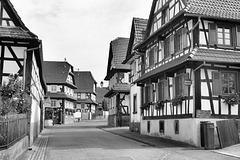 Hunspach (67) 5 septembre 2014. Village typique de l'Alsace septentrionale.