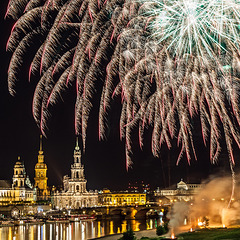 Firework over the Town