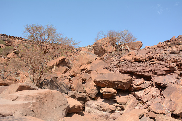 Namibia, The Twyfelfontein Valley with Ancient Rock Carvings