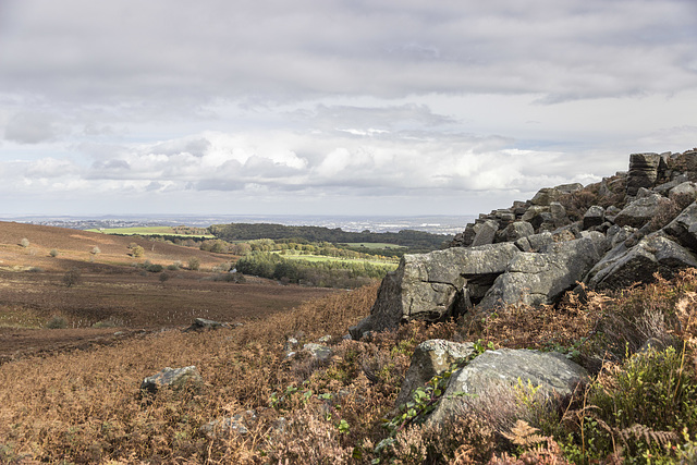 View north-east from Houndkirk Hill escarpment