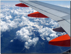 Over the Alps back from Paris 2009
