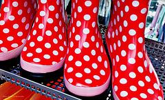 funny rain boots