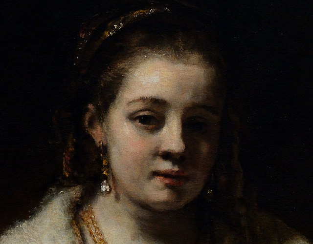 Portrait of Hendrickje Stoffels [detail]