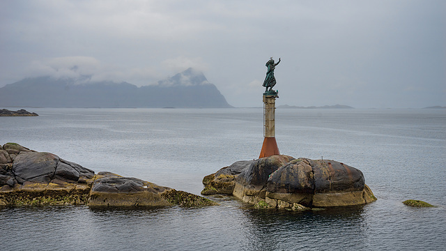 arriving at Svolvær