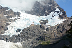 Chile, Left Hanging Glacier in French Valley in Torres del Paine