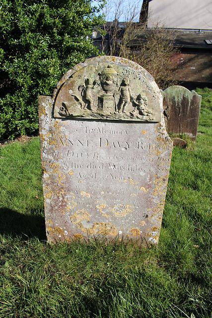 Memorial in Saint Peter's Churchyard, Yoxford, Suffolk