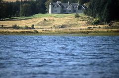 Scardroy Lodge accross Loch Beannacharain,Strath Connon 24th September 1998