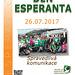 Esperanto-Tago 2017 - ĉeĥlingva afiŝo - Den esperanta 2017 - český plakát