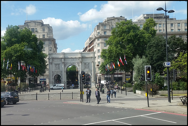 Marble Arch from the bus