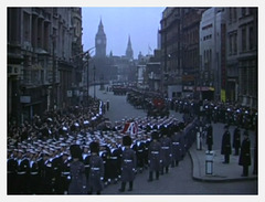funeral procession in Whitehall