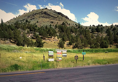 Poe Valley ranchers' signs