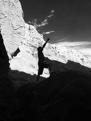Calcite Mine Slot Canyon Hike (0695)