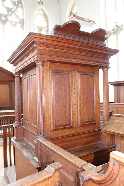 Pulpit, St John the Baptist's Church, Kings Norton, Leicestershire
