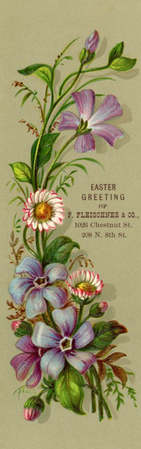 Easter Greeting Bookmark, ca. 1880