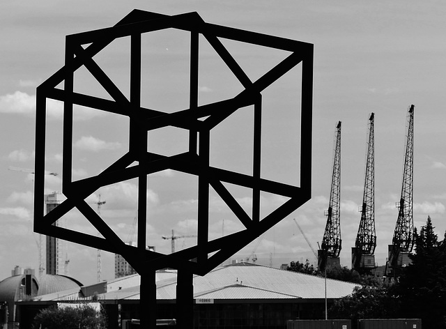 An Image of Modern Docklands (Mono) - 18 July 2015