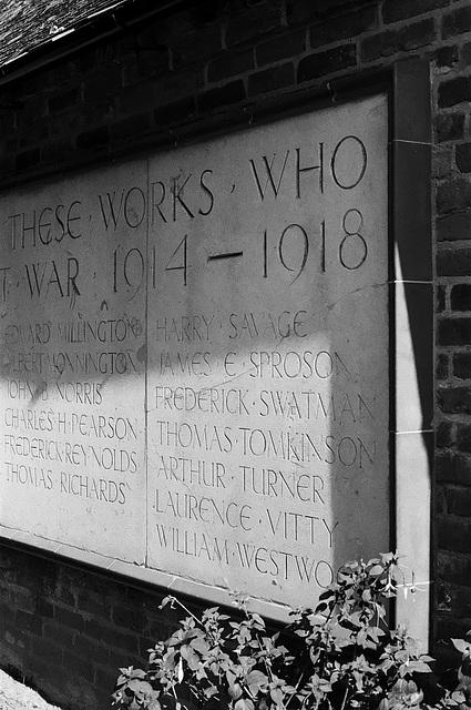 War memorial at Wightwick Manor 1