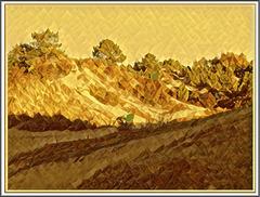 Les dunes de Stella Maris avec Picsart