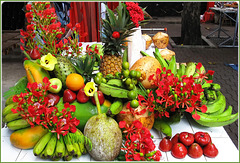 MAHE, SEYCHELLES : frutti tropicali