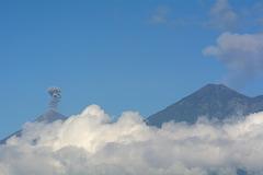 Guatemala, Eruption of Fuego Volcano (3763m)