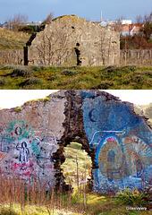 ruines dans les dunes à SAINT GILLES CROIX DE VIE