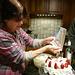 Mom making the cake