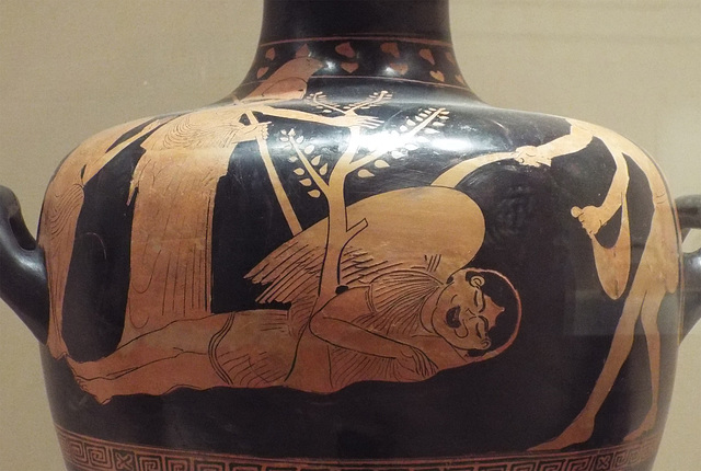 Detail of a Red-Figure Hydria Attributed to the Nausikaa Painter in the Virginia Museum of Fine Arts, June 2018