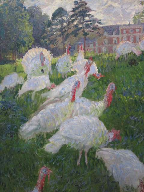 Turkeys by Claud Monet, Musee d'Orsay.