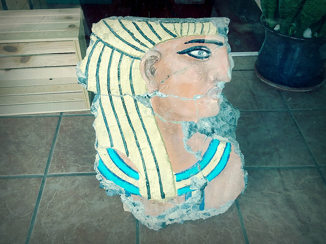 """Fragment from demolished """"Egyptian building"""""""