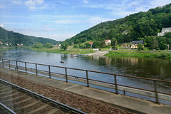 Train to Prague 2019 – View of the River Elbe