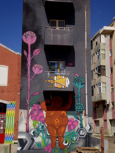 Mural by Gonçalo Mar.