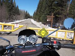Gate closed at 10 Mile Lake.