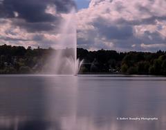 Fontaine au Lac Boivin à Granby