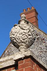 Urn on Gatepier, Hamond's School, Market Place, Swaffham, Norfolk