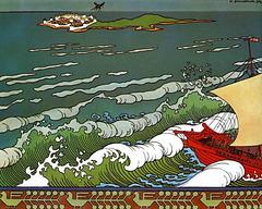 Conte du Tsar Saltan, illustré par Ivan Bilibin