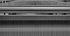 Tuftingmaschine in der Girloon-Teppichweberei 2 x PiP