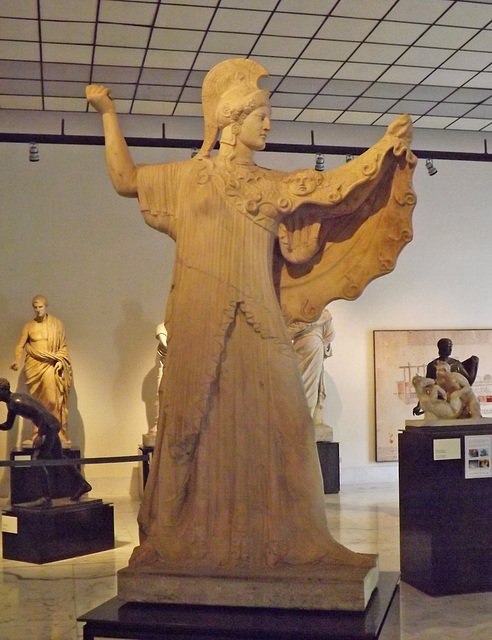 Athena Promachos from the Villa dei Papiri in the Naples Archaeological Museum, June 2013