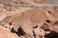 Namibia, Ancient Rock Carvings in the Twyfelfontein Valley