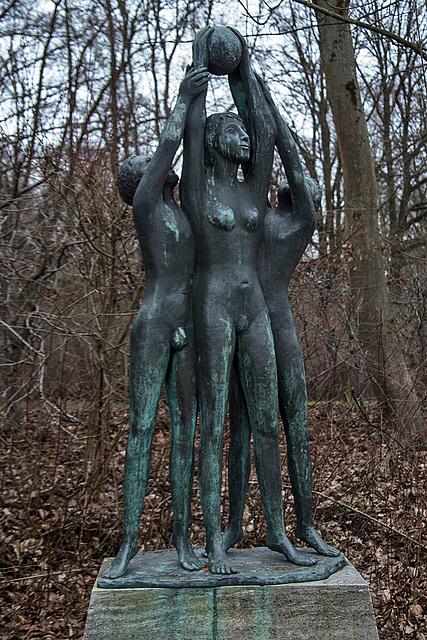 20160209 0013VRAw [D~LIP] Skulptur, Landschaftsgarten, Bad Salzuflen