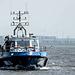 """Schweres Hafenstreifenboot """"WS35"""" der Hamburger Wasserschutzpolizei."""