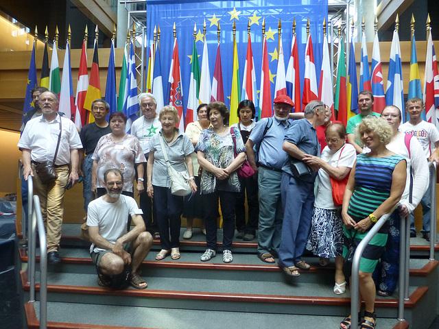 Vizito en la Eŭropa Parlamento.